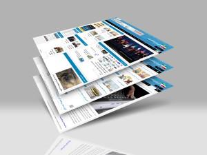 نمونه طراحی وب سایت خبری